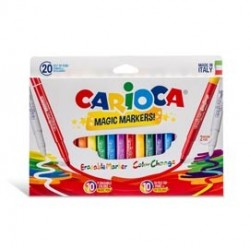 Astuccio 20 pennarelli Magic Markers colori assortiti CARIOCA 41369