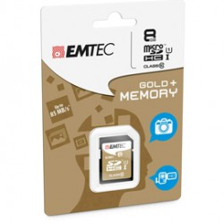 SDHC EMTEC 8GB CLASS 10 GOLD PLUS ECMSD8GHC10GP