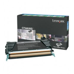 TONER NERO C734, C736, X734, X736, X738, RETURN PROGRAM C734A1KG
