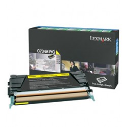 TONER GIALLO C734, C736, X734, X736, X738, RETURN PROGRAM C734A1YG