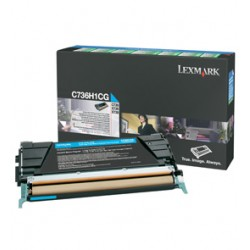 TONER CIANO C736, X736, X738, ALTA CAPACITA RETURN PROGRAM C736H1CG