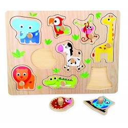 Small Foot by Legler- Set Puzzle Animali dello Zoo, 4763