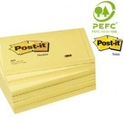 BLOCCO 100fg Post-it 76x127mm 655 7100090881 - Conf da 12 pz.
