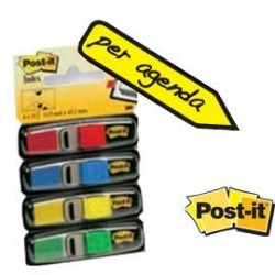 MINISET 140 SEGNAPAGINA Post-it INDEX 683-4 IN 4 COLORI CLASSICI 12X43.6MM 27109