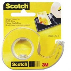 NASTRO BIADESIVO Scotch 6,3MTX12MM 665-136D PERMANENTE S/LINER IN CHIOCCIOLA 7100150066