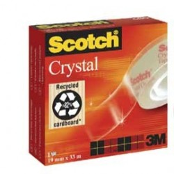 NASTRO ADESIVO Scotch CRYSTAL CLEAR 600 33MTX19MM 30598