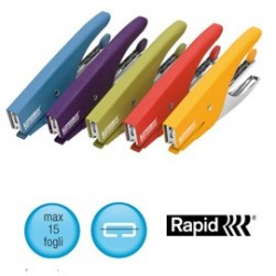 Cucitrice a pinza RAPID S51 SOFT GRIP rosso 10538747