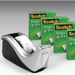 DISPENSER C60 + 4 ROTOLI Scotch 810 19MMX33M 86801