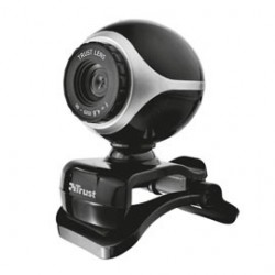 Webcam Exis per Pc e laptop con microfono integrato - nero/silver - Trust 17003